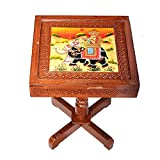 APKAMART Handcrafted Wooden Side Table c...