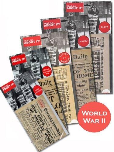 5-pack-of-replica-world-war-ii-newspapers-britain-declares-war-dunkirk-battle-of-britain-the-blitz-d