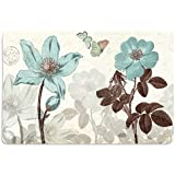 Walls And Murals Vintage Floral HD Digital 12x18 Inches Heavy Cotton Dining Table Place Mats(Set Of 4)