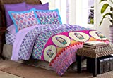 Bombay Dyeing Colours of India 144 TC Cotton Double Bedsheet with 2 Pillow Covers - Purple