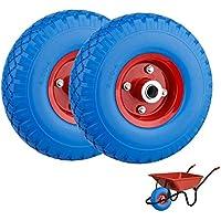 2X PU Cilindro de rueda de carretilla (260 mm Cochecitos de neumáticos goma rueda de repuesto 3.00 - 4 antipinchazos