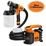 Paint Sprayer, Tacklife SGP16AC Professional 800W Spray Gun MAX Flow 1100ml/min Paint Container