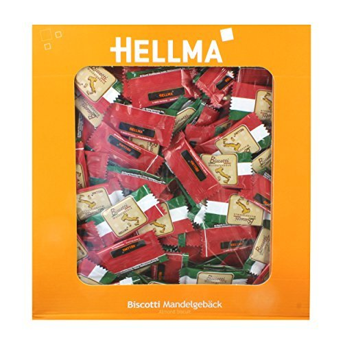 Hellma Biscotti Almond Biscuits, approx. 250 Individually Wrapped by Hellma