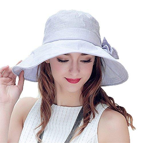 Femmes Fil Mode Plage Été Extérieur Large Rebord Pliage Décoration Bowknot Chapeau De Soleil violet clair