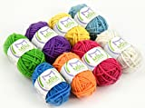 Mira Handcrafts Premium Miniature Yarn Pack - Rainbow Fantasy - 8 Acrylic Yarn Skeins - Rainbow Colors - Perfect for Any Crochet and Knitting Mini Yarn Project - 2 FREE Ebooks Included