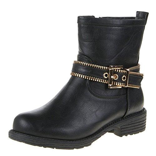 Scarpe da donna, 520PA, Stivaletti alla caviglia Schwarz FD171