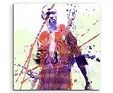 Paul Sinus Art Michael-Jordan_60x60cm Wandbild Aquarell Unikat Kunst Bild Wie Gemälde Kunstdruck