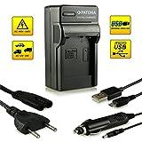 Micro USB cargador de carga cáscara para Panasonic Lumix dmc-tz22//dmc-tz25