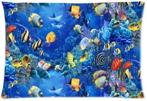 funny-fish-refreshing-submarine-world-colorful-tropical-sea-life-zippered-pillow-protector-20x30-inc