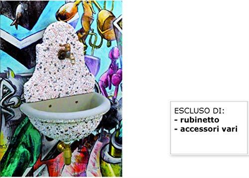Fontane a muro danubio cm54x34x67h fantasia in lavato