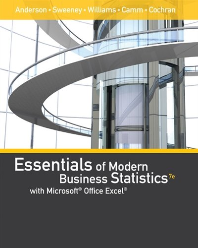Essentials of Modern Business Statistics with Microsoft® Office Excel® (with XLSTAT Education Edition Printed Access Card)