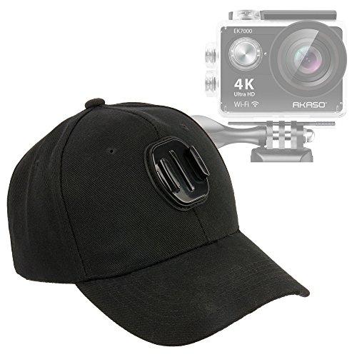 Duragadget cappellino da baseball con supporto per action camera akaso ek7000 / ek5000 | andoer ultra-hd 4k action camera / 2.0