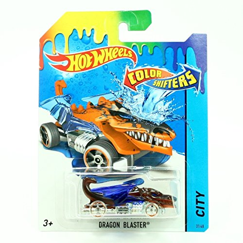 DRAGON BLASTER * COLOR SHIFTERS * 2015 Hot Wheels City Series 1:64 Scale Vehicle #31/48 by Hot Wheels