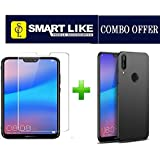 SmartLike Combo of Silicon Back Cover and Tempered Glass for Huawei P20 lite/Nova 3e Pack of 2