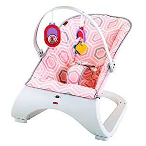 Fisher-Price Comfort Curve Bouncer, New-born Baby Bouncer, Rocker and Chair with Removable Toy Bar and Calming Vibrations