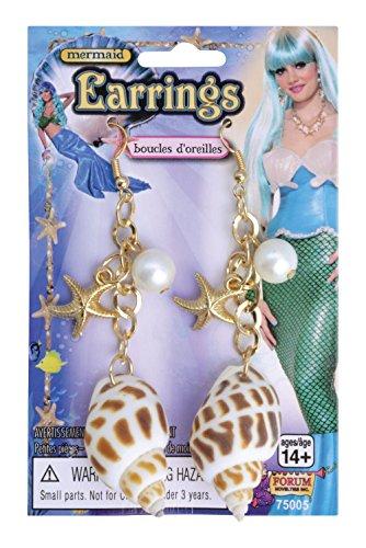 Und Seemann Meerjungfrau Kostüm - Meerjungfrau Ohrringe Schmuck Zubehör für Märchen See seemanns Kostüm Schmuck