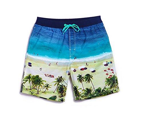 Lantra Besa Strand Wasserabweisend Schnelltrocknend Damen Herren Jungen Kinder Badehose Badeshorts Knielang und Mini Shorts für Wassersport Freizeit im Sommer Typ 6 Herren