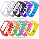 Zacro Xiaomi Mi Band 3 Armband 10 Stücke Ersatzband für Xiaomi 3 Wasserdichtes Mehrfarbiges Ersatzband Kein Tracker