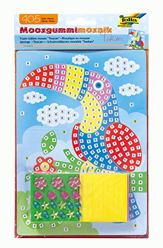 Folia 23802-Musgo Goma Mosaico de Cacatúa, 405Piezas