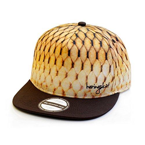 heringsküt Angel Cap I Basecap für Angler Snapback Anglerkappe Unisex I One Size 56 cm - 62 cm, Motiv Schuppenkarpfen