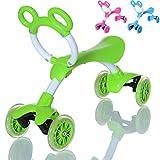 LCP Kids SLIDER Kinder Laufrad als Lern Fahrzeug auf 4 Rädern ab 1 Jahr, Farbe: grün