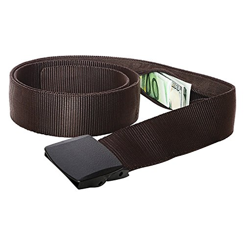 Geldgürtel mit Geheimfach Reise Gürtel mit Geldversteck (Brun) EINWEG