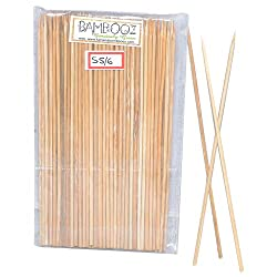 Bambooz Wooden Bamboo Skewers 6 Inch(Set of 100)