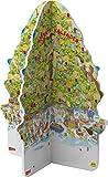 Pixi Adventskalender in Weihnachtsbaumform 2019: mit 24 Pixi-Büchern in zwei gestanzten Teilen, die zu einem 3D-Baum zusammengesteckt werden - diverse