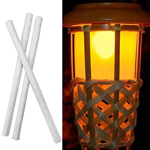 Bingpong 20 stücke 25,4 cm Glasfaser Docht Alkohol Öl Lampe Taschenlampe Docht für Glashalter Kerosin Brenner Herd Ersatz Dochte -