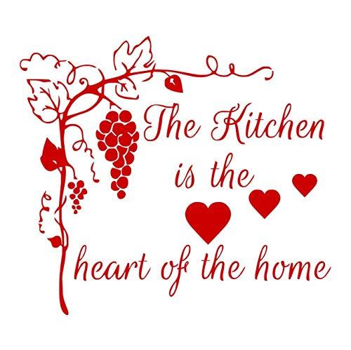 daufkleber Wohnkultur Die Küche ist das Herzstück des Home Interior Goods for Creativity Quote Wandtattoos Vinyl 59x66cm ()