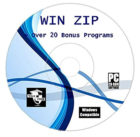 Winzip For Rar Arhived Files Compression Unzipping Software CD Disk For Windows Unzip Unrar Any Zipped File
