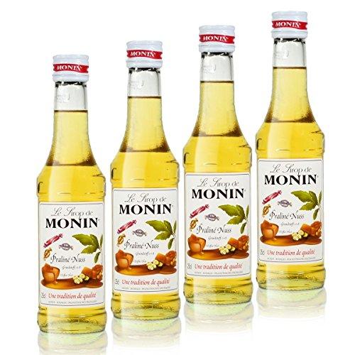 4x Monin Praline Nuss Sirup, 250 ml Flasche