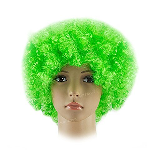 Clown Wig Fancy Dress Costume Accessory St Patricks Day Irish Ireland Cosplay Halloween Anime Short Stylish Ladies Mens Boys Girls Synthetic Funky 60s Disco Party Wigs by Amscan ()