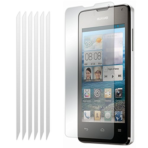 Huawei Ascend Y530 6 Pack LCD Screen Protector Guards Mit Poliertuch von Fone-Case 6 Pack Screen