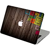 Theskinmantra Wooden Frames Apple MacBook Air 13 Decal/Skin with Apple Cut Logo and Round Edges
