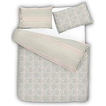 Juego de funda de edredón 100 % algodón puro egipcio reversible, con fundas de almohada Oxford de percal de Lujo, Istambul, doble