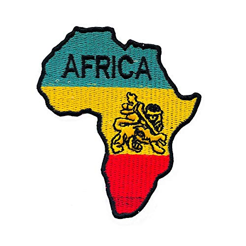 4b382f64579509 REAL EMPIRE Africa Map Rasta Flag Rastafari Iron On Patches Sew On Badge Embroidered  Patch Fancy