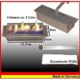 Réglable de 1 litre brûleur en acier inoxydable avec de la laine de céramique