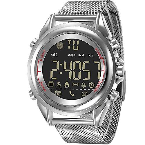 WENTAO Bluetooth Smart Watch Bracelet Fitness Tracker IP68étanche W/podomètre Chronomètre SMS Appel Notification Camera 126DB pour Android/iOS Enfants Femme Homme Cadeau