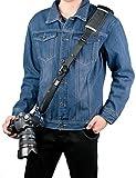 Camera Strap, Sugelary Black Nylon Digital Camera Shoulder Strap Belt for Canon Nikon Sony DSLR SLR Mirrorless Camera (F-3 Camera Strap)