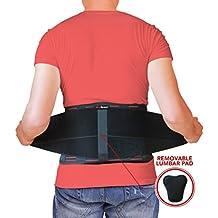 Fascia lombare AidBrace - Aiuta a dare sollievo a dolore lombare, sciatica, scoliosi, ernia al (Addominale Ernia Supporto)