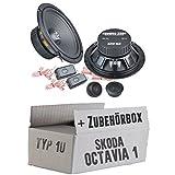 Skoda Octavia 1 1U Front - Ground Zero GZIC 16X - 16cm Lautsprecher System - Einbauset
