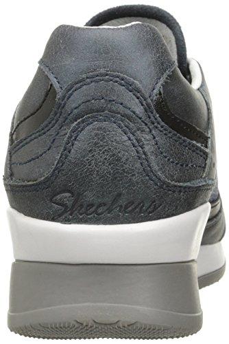 Vita Lin Fashion Cuir Sneaker Skechers Marine f1aqfd