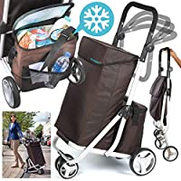 Burwells Three Wheeled Folding Shopping Trolley Bag With Brake & Thermally Insulated Cool Ice Box