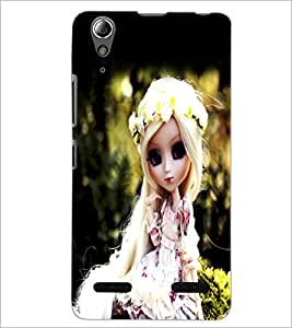 PrintDhaba Cute Doll D-1042 Back Case Cover for LENOVO A6000 PLUS (Multi-Coloured)