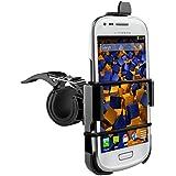 mumbi Système de fixation sur guidon Samsung Galaxy S3 mini de Vélo / Moto - sécurité totale en portrait / paysage
