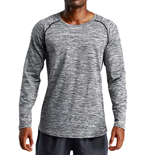 Camiseta Hombre Deportiva Ropa Hombre Blusa Hombre Manga Larga Gym  Compresión Camiseta Interior Fitness Gimnasio Aire 58375814c79d6