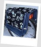 T-JOY-42 Fahrradtasche JOY comic navy Kinderfahrradtasche Satteltasche Gepäckträgertasche 2 x 5 Liter KINDER