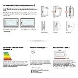 Kellerfenster - Kunststoff - Fenster - weiß - BxH: 90x40 cm - DIN links - 3-fach-Verglasung - 60mm Profil - verschiedene Maße Test