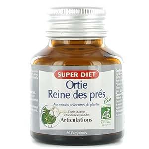 Super diet - Mélange ortie reine des prés - comprimés 80 - Le confort des articulations 100% bio